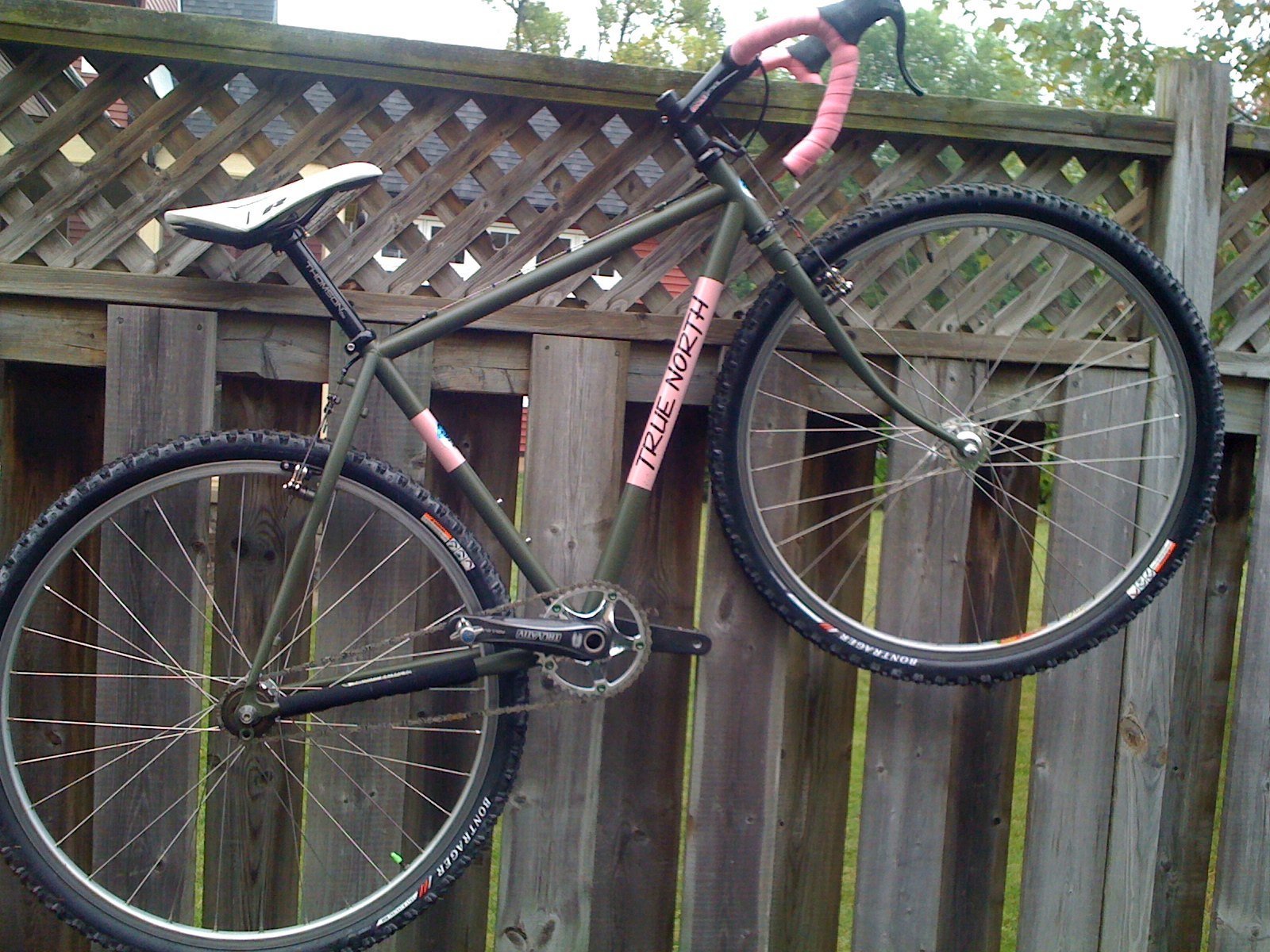 """monster 'cross bikes"" creeping towards world domination?-hanging-out-barrys-fence.jpg"