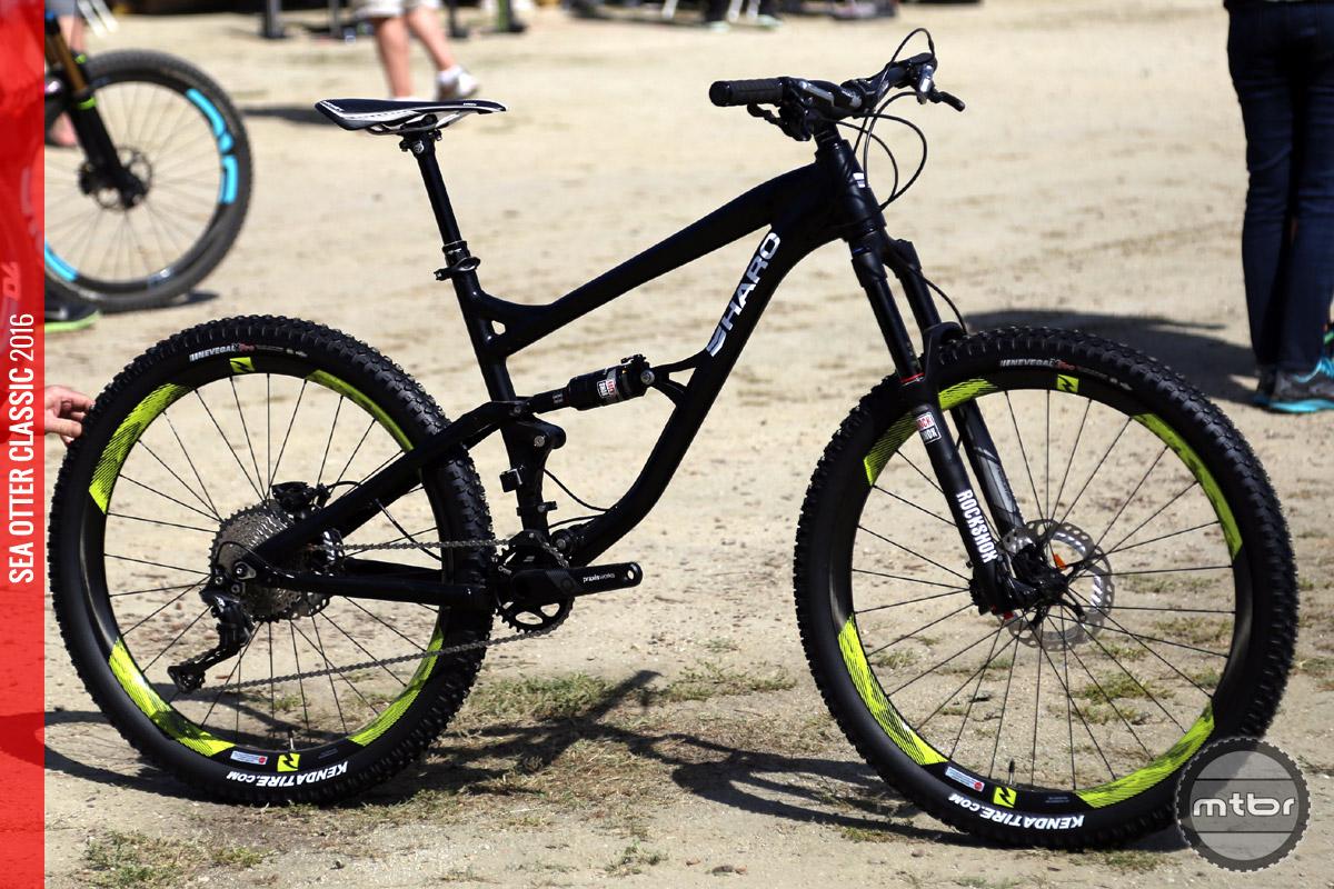 Haro's prototype Shift LT provides 140mm of rear travel in a more burly package.