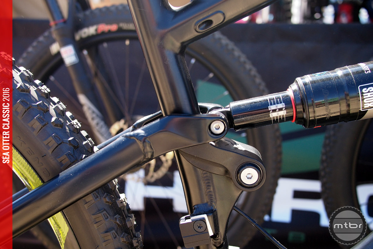 The Shift LT uses a four bar suspension design.
