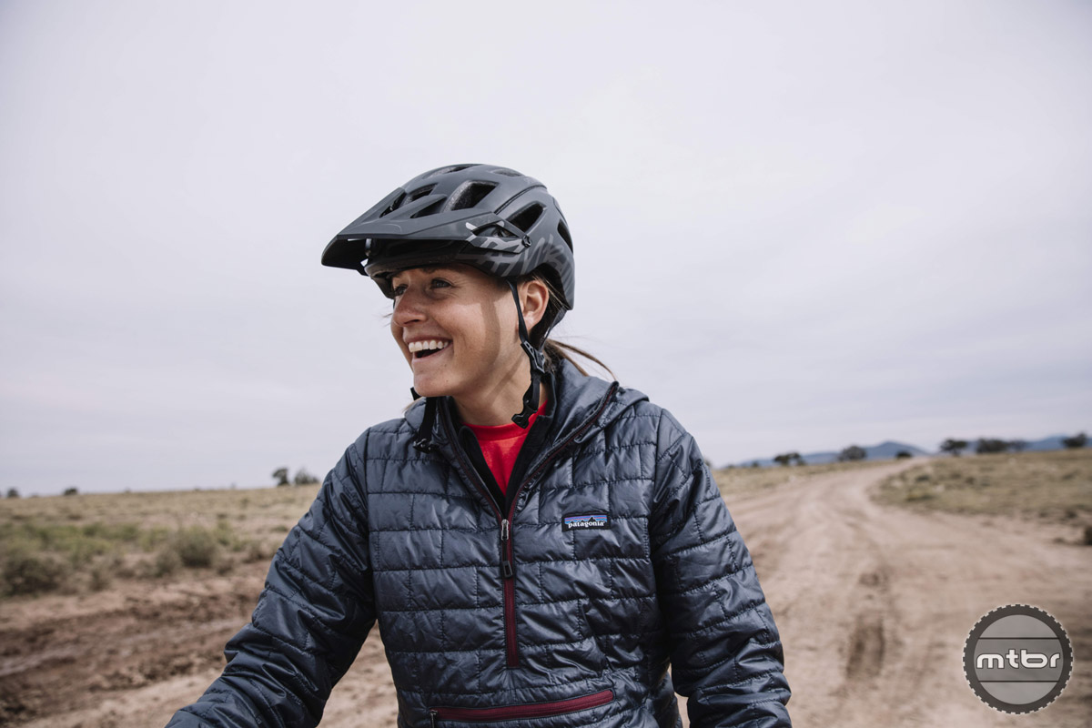 Lael Wilcox - bikepack racer and ultra long distance rider shows us her grit and smile. Photo courtesy of R. Heffernan