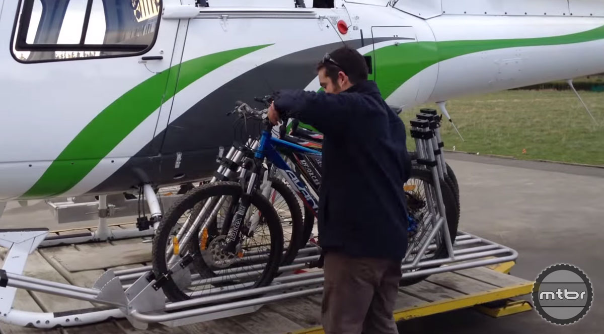 Airborne Systems Helicopter Bike Rack Bike Unload