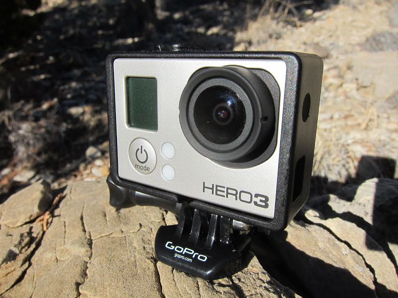 GoPro HERO3 camera mounted in the Naked Frame system