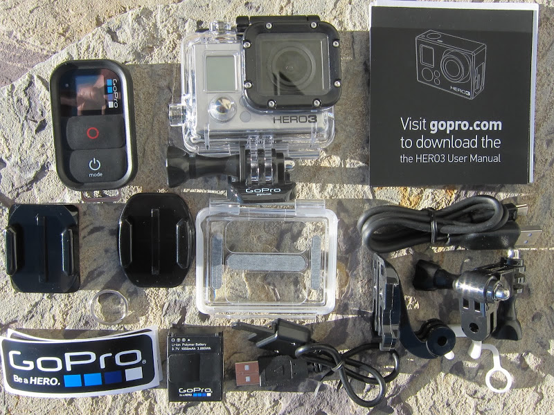 GoPro HERO3 Black edition kit contents