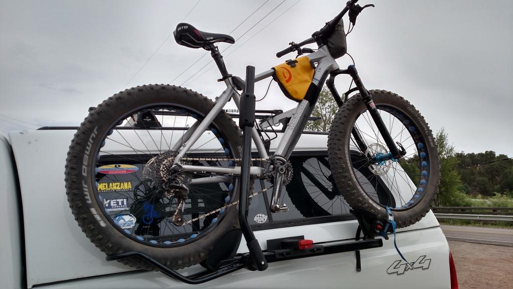 Pickup Truck Side Mount Topper Friendly Bike Rack Hack