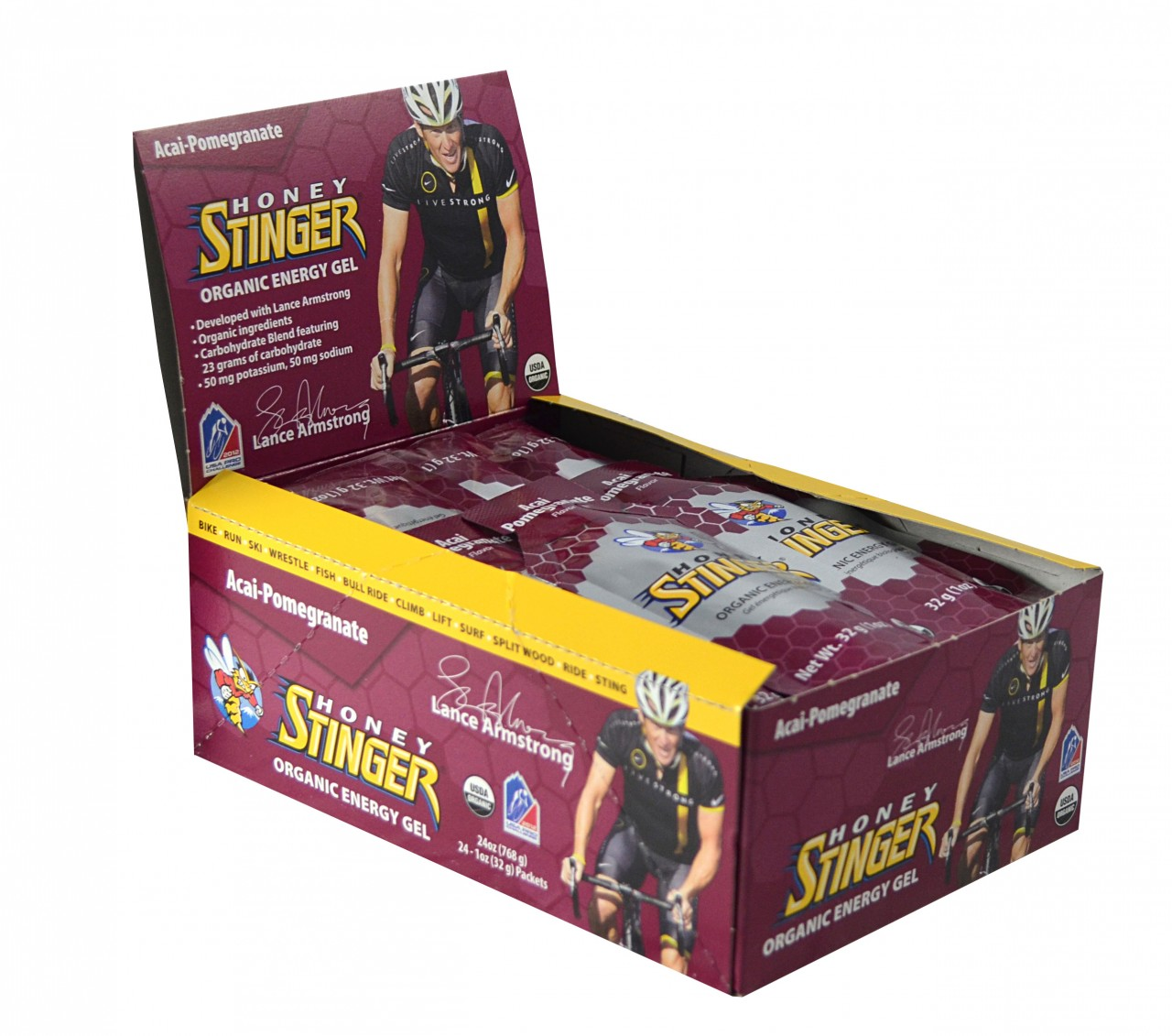 Honey Stinger Gels Acai Pomagranate Box