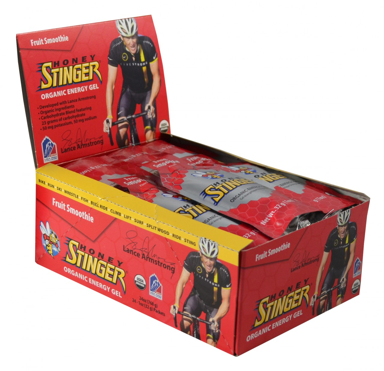 Honey Stinger Gels Fruit Smoothie Box