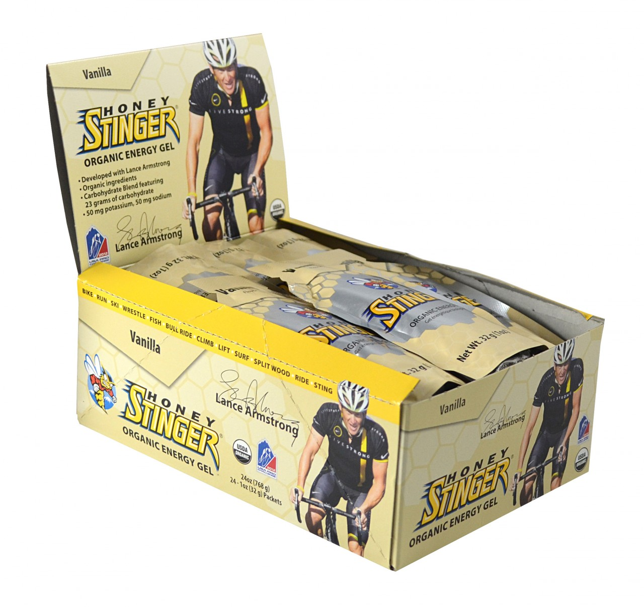 Honey Stinger Gels Vanilla Box