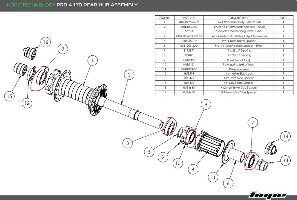 Fatsno rear hub bearing issue (already!)- Mtbr com