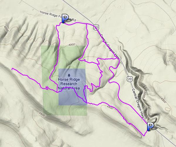 Horse Butte - Bend - Routes & Maps-horse_ridge_fence_blue.jpg