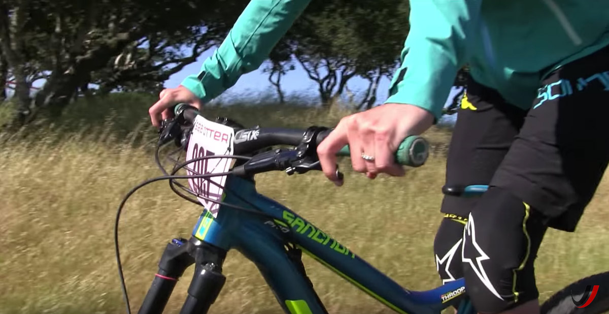 Today's hydraulic disc brakes make it easy to use just one finger.