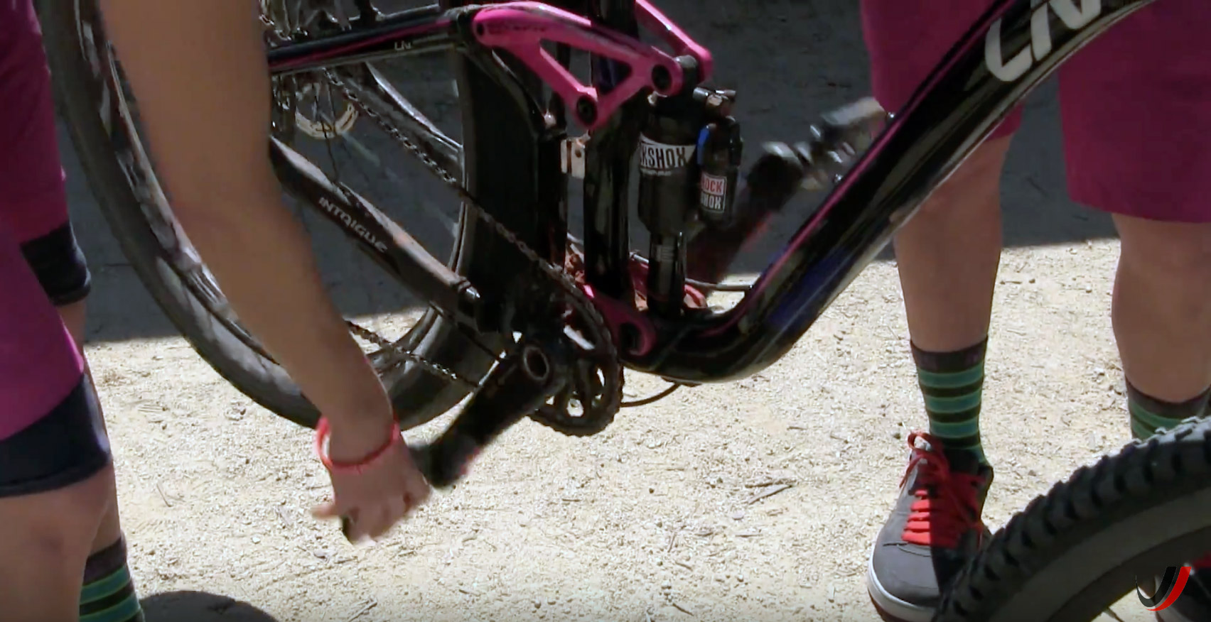 Shift your chain to an easy gear.
