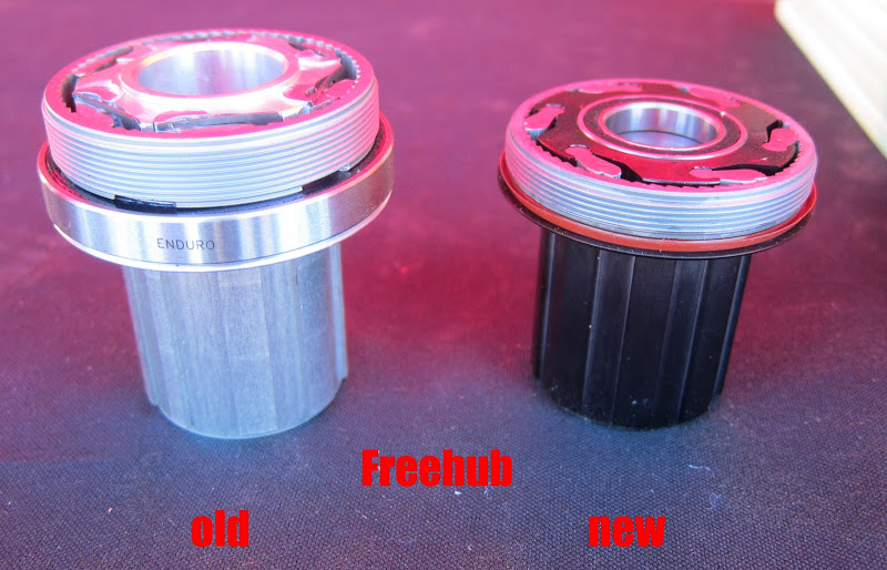 I9 Torch Hub - Freehub comparision, old vs new