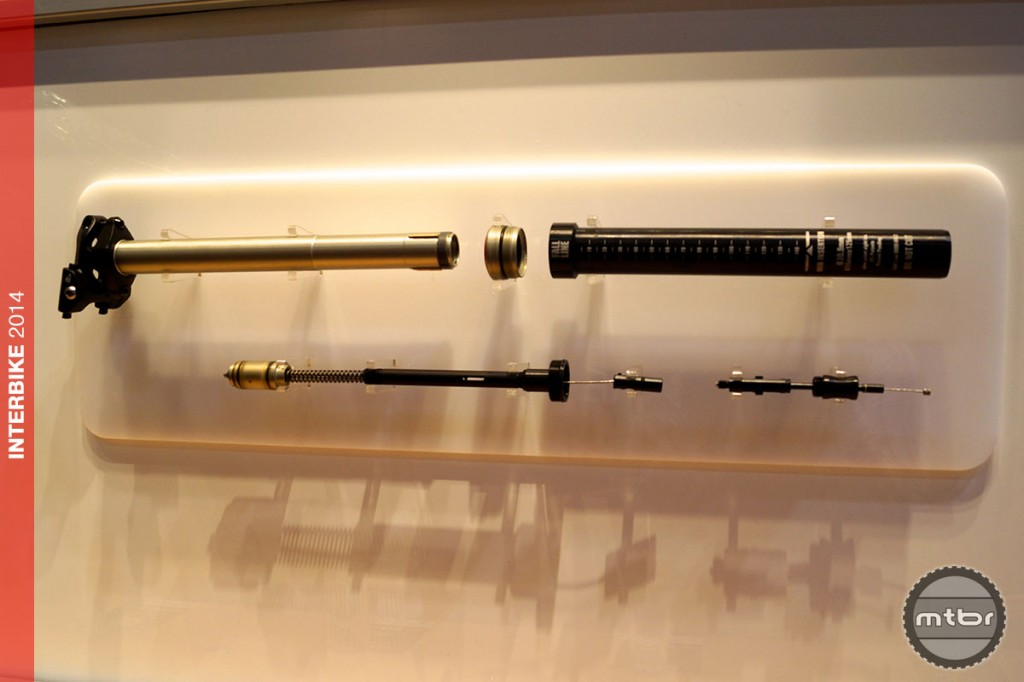 9Point8 Internals shown here. The Easton post licenses this technology.