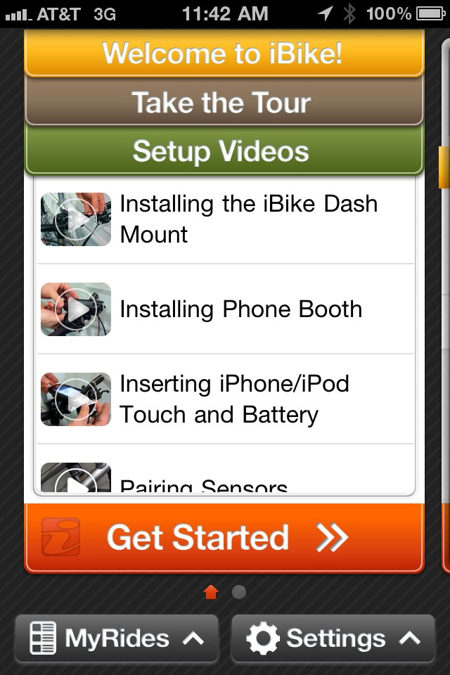iBike Coach App Screen Shot 2