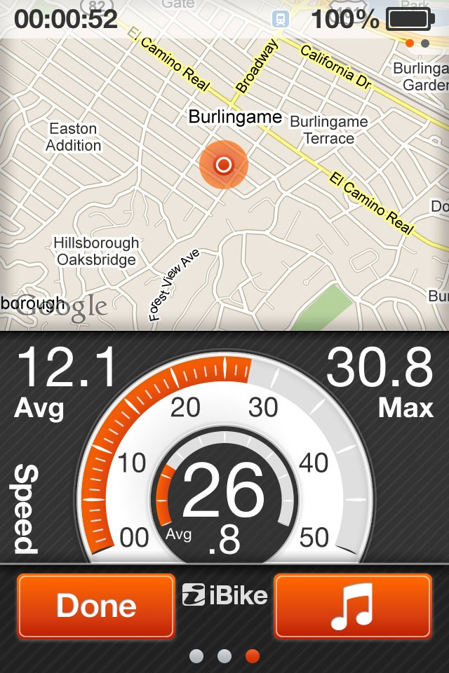 iBike Coach App Screen Shot