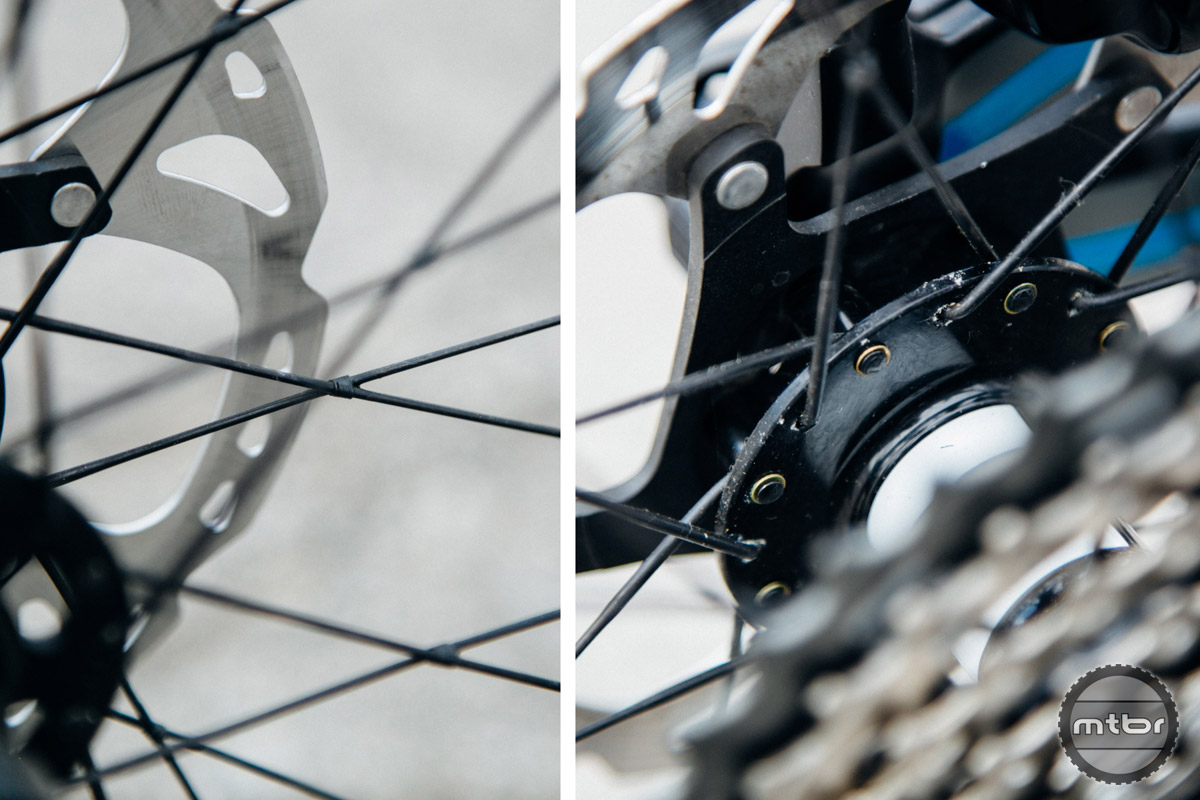 When was the last time you saw a modern mountain bike wheelset that was tied and soldered?