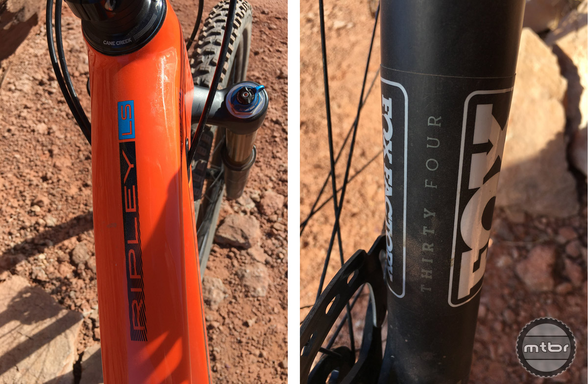 LS = long and slack. Not as long and slack as some, but Ibis struck a nice balance while updating the Ripley to a more aggressive geometry. The new Fox 34 Factory fork is fast becoming a favorite.