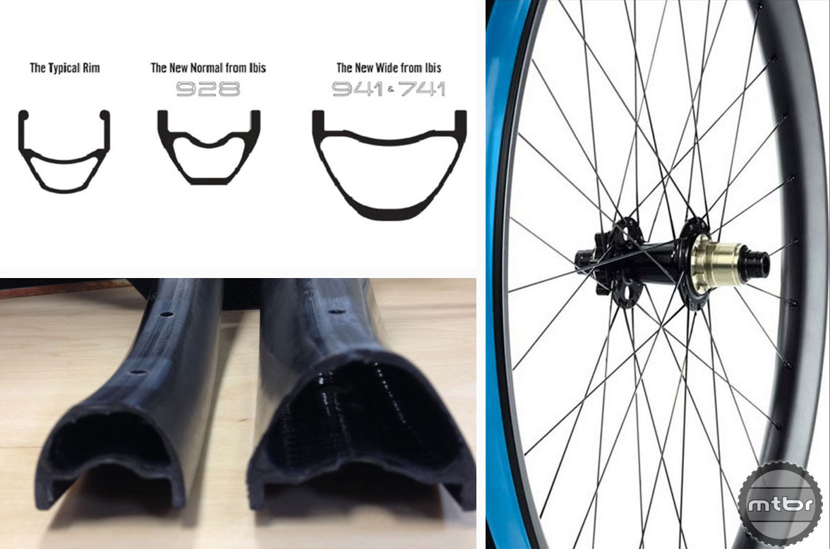 This photo from Ibis shows the differences in the older rims width and the new wider ones.