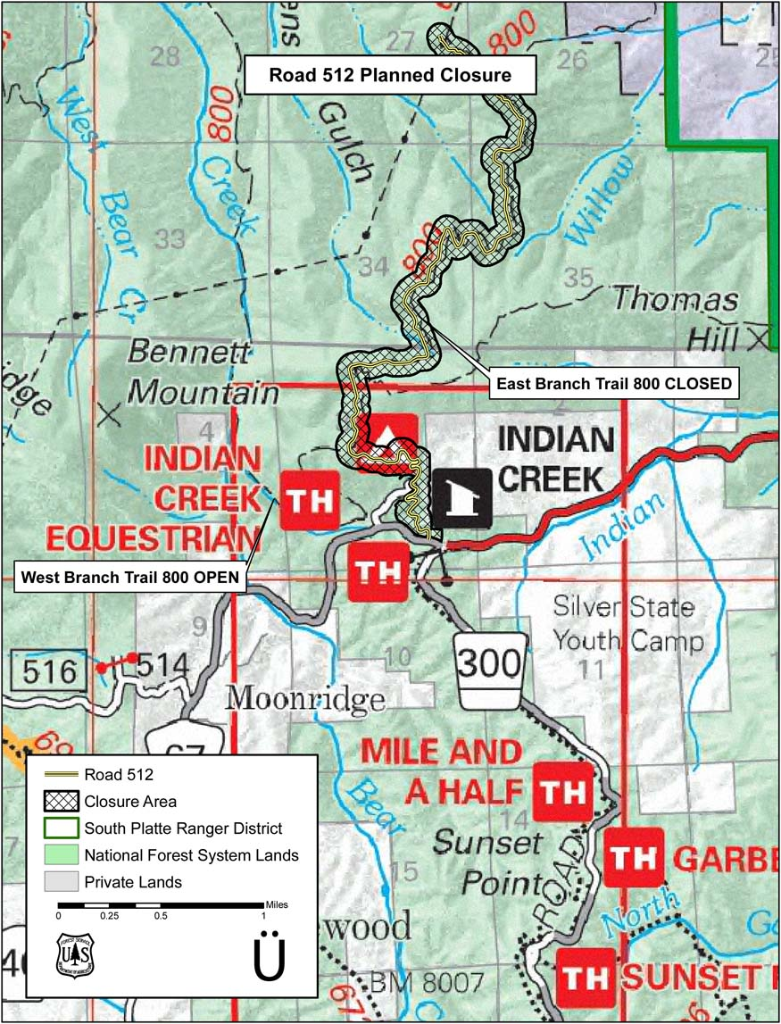 Another Indian Creek Trail Closure- Mtbr.com on beaver creek trail map, twin sisters trail colorado map, island lake trail colorado map, crags trail colorado map, rainbow trail colorado map, waterton canyon trail map, three lakes trail colorado map,
