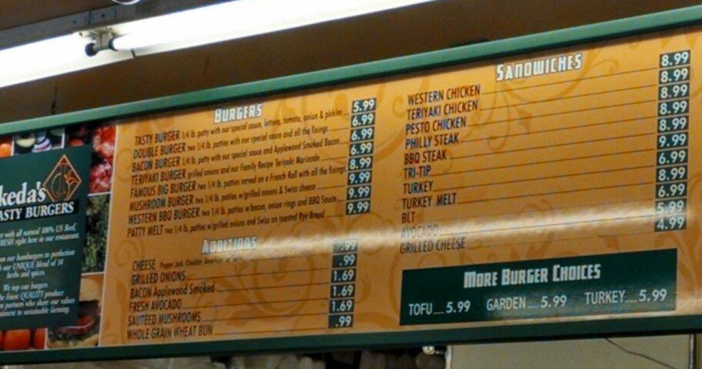 Best Burger In Sacramento Area Ikedas Menu Jpg
