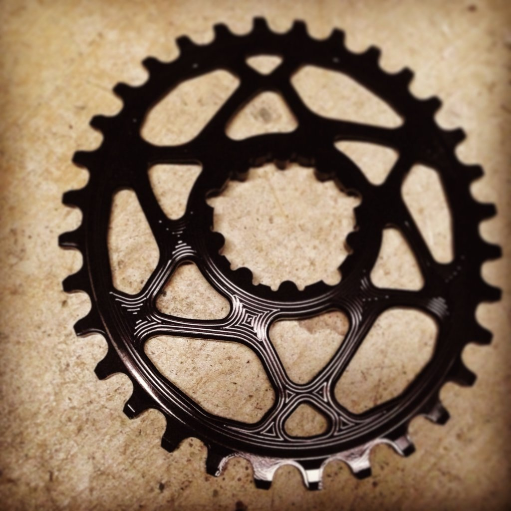 B-Labs Oval Chainring 104BCD Narrow Wide Tooth Pattern
