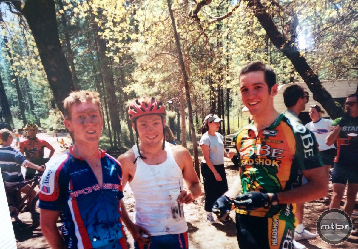 Post race, Boggs Mountain in 2000. Nothing but fun. That's Ben on the right.