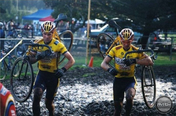 Racing cyclocross with Justin Robinson.