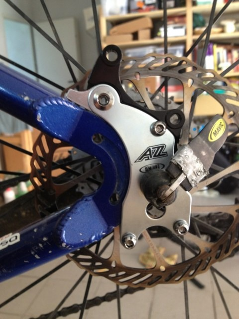 A2Z Disk Brake Adapter for frames without disk mount, anyone try one?-imageuploadedbytapatalk1373725104.259224.jpg