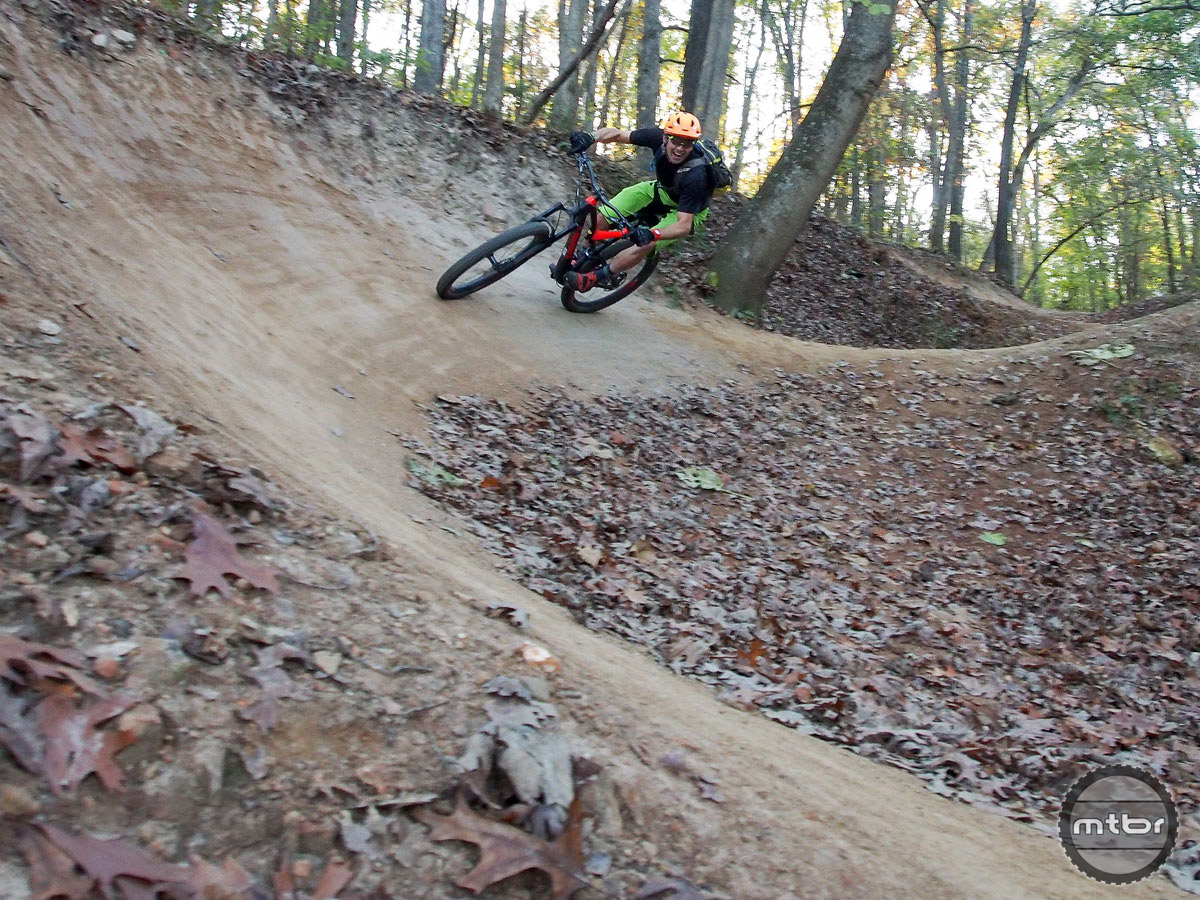 The nearby Slaughter Pen Mountain Bike Trail System has some serious flow.