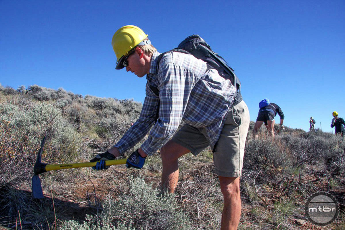 New IMBA chairman of the board at work on his home trails in Gunnison, Colorado.