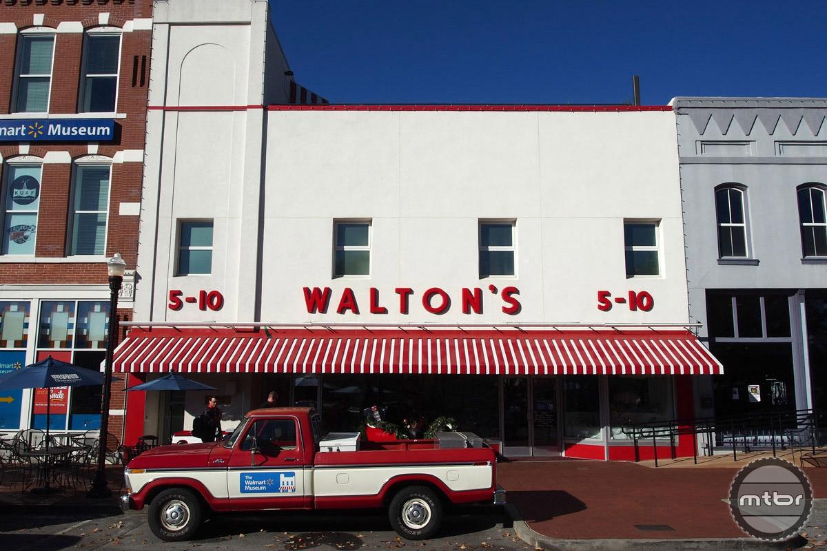 This 5-10 store in downtown Bentonville was genesis to Walmart phenomenon.