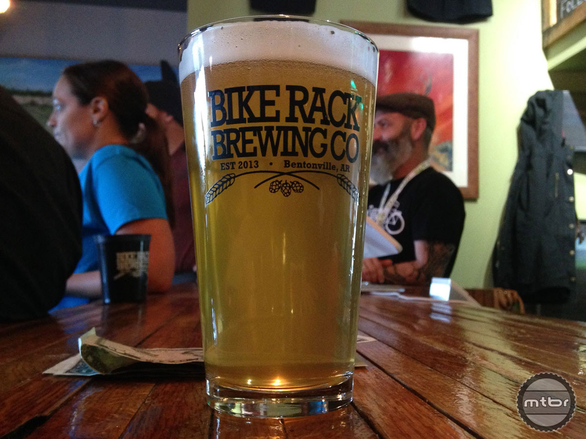 Locally operated Bike Rack Brewing is helping with hydration at the 2016 IMBA World Summit.