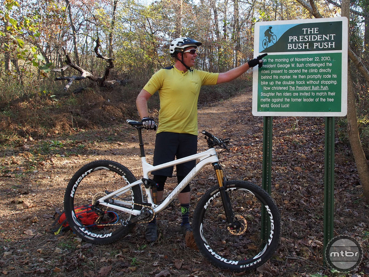Among the area attractions, the Bush Push, a nasty 70-foot climb with a 20% grade and some interesting presidential history.