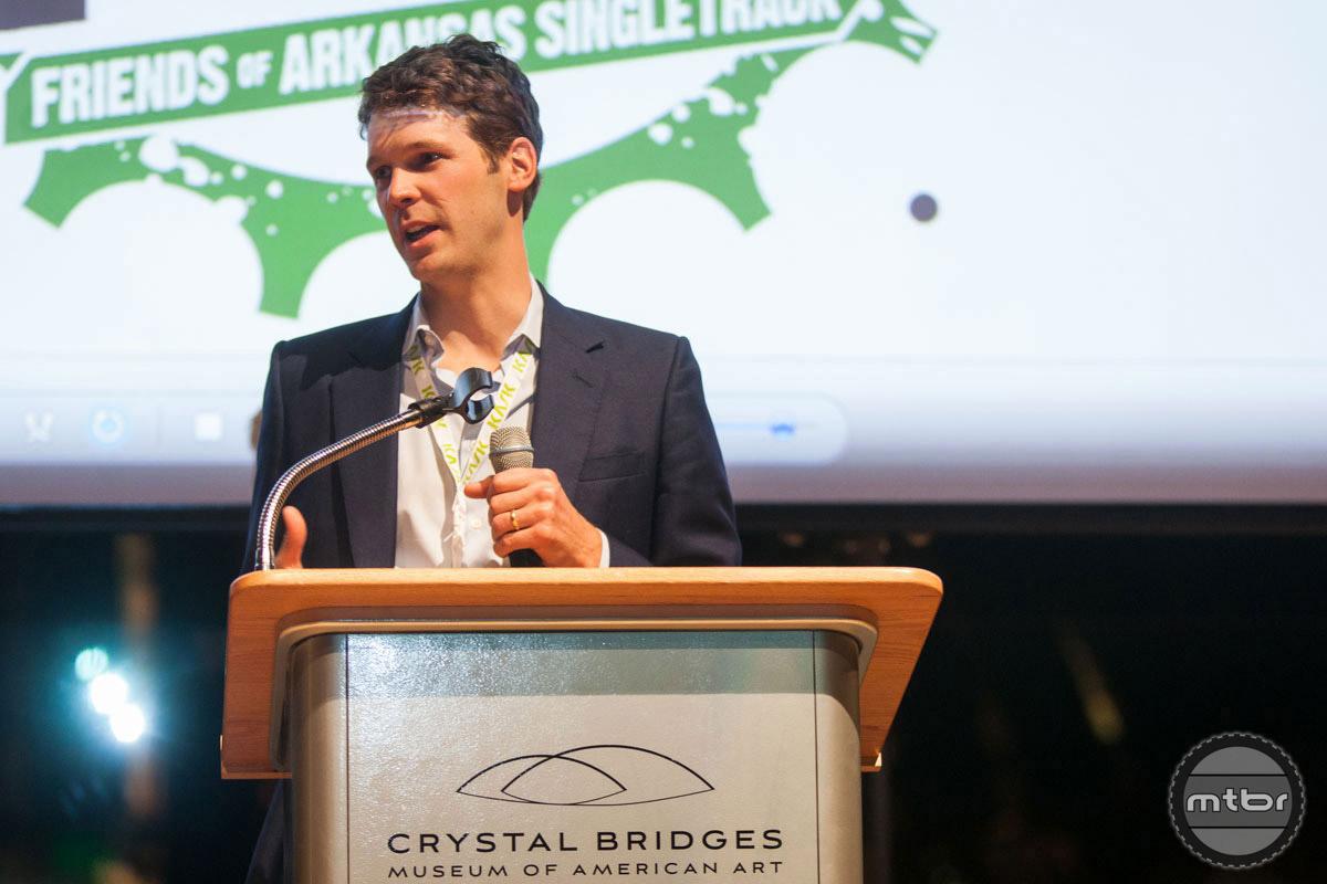 Walton delivered the keynote speech at the IMBA Summit's VIP reception. Photo courtesy IMBA/Liz Chrisman