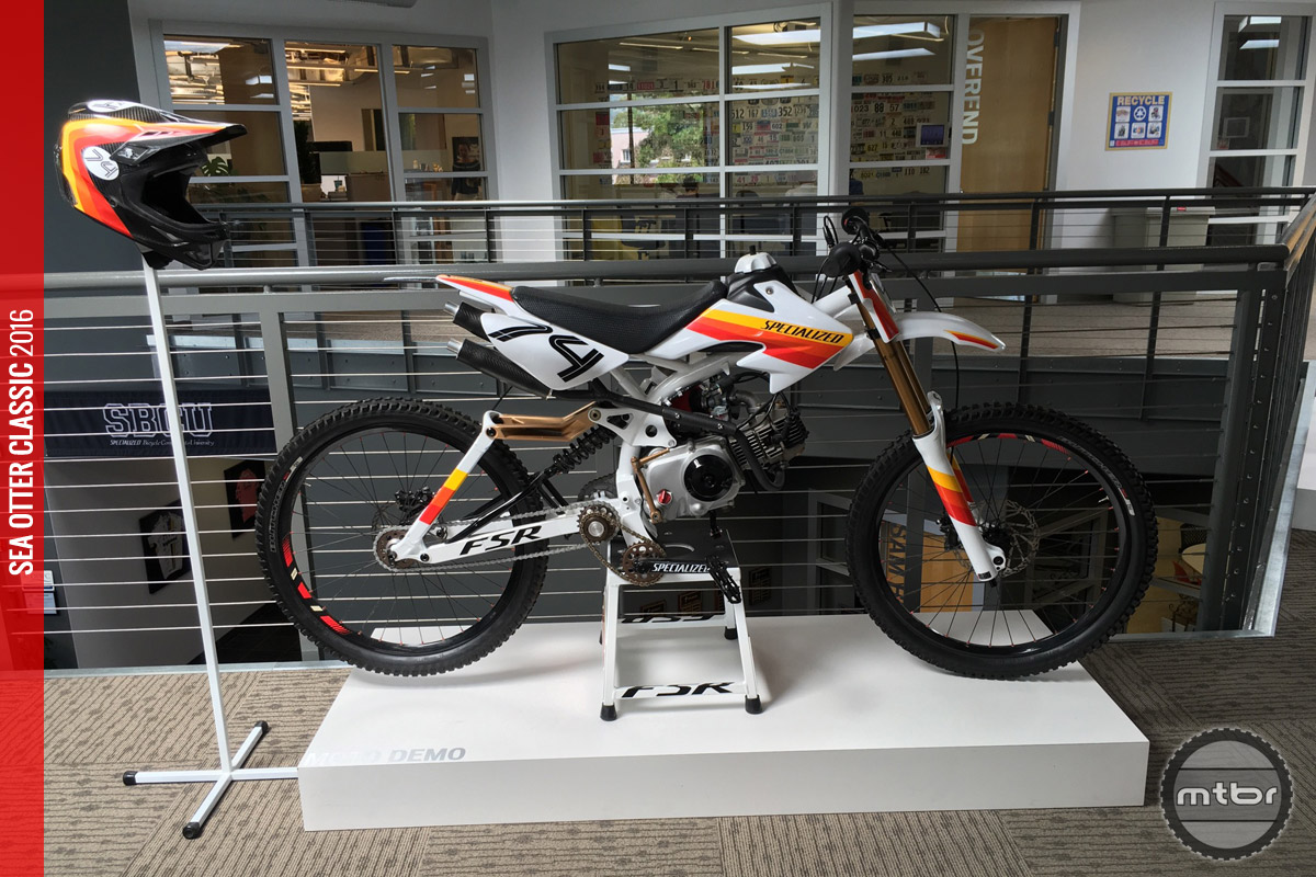 The Moto Demo mates a downhill frame and a pit bike motor for what we imagine is one of the best pit bikes of all time.