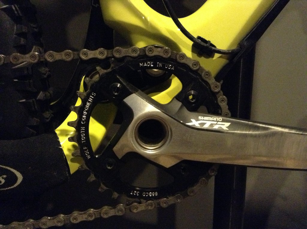 Wolf Tooth Components 36t 88bcd Drop-Stop Chainring for Shimano XTR M985