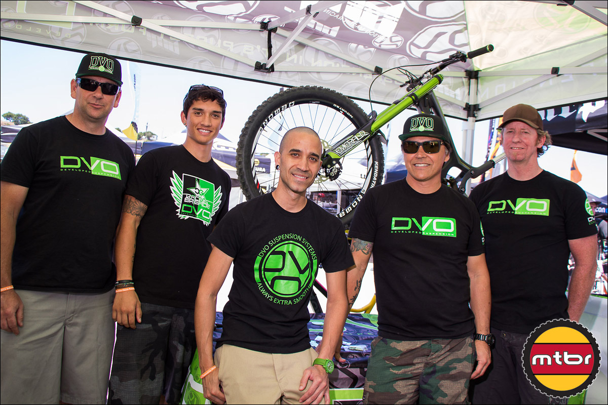 The DVO Suspension Team At The 2013 Sea Otter Classic