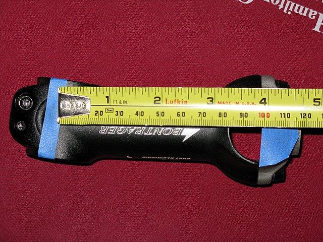 Measuring stem length. Mtbr. Com.