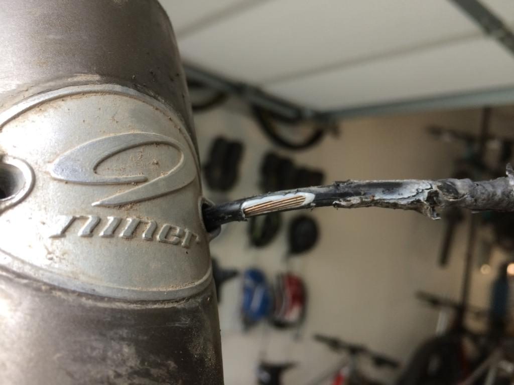 Drilling Down Tube On Carbon Frame For Internal Cable