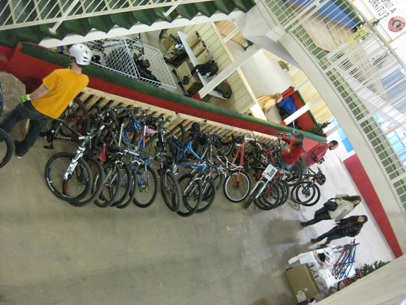 Ray's MTB Park bike rack