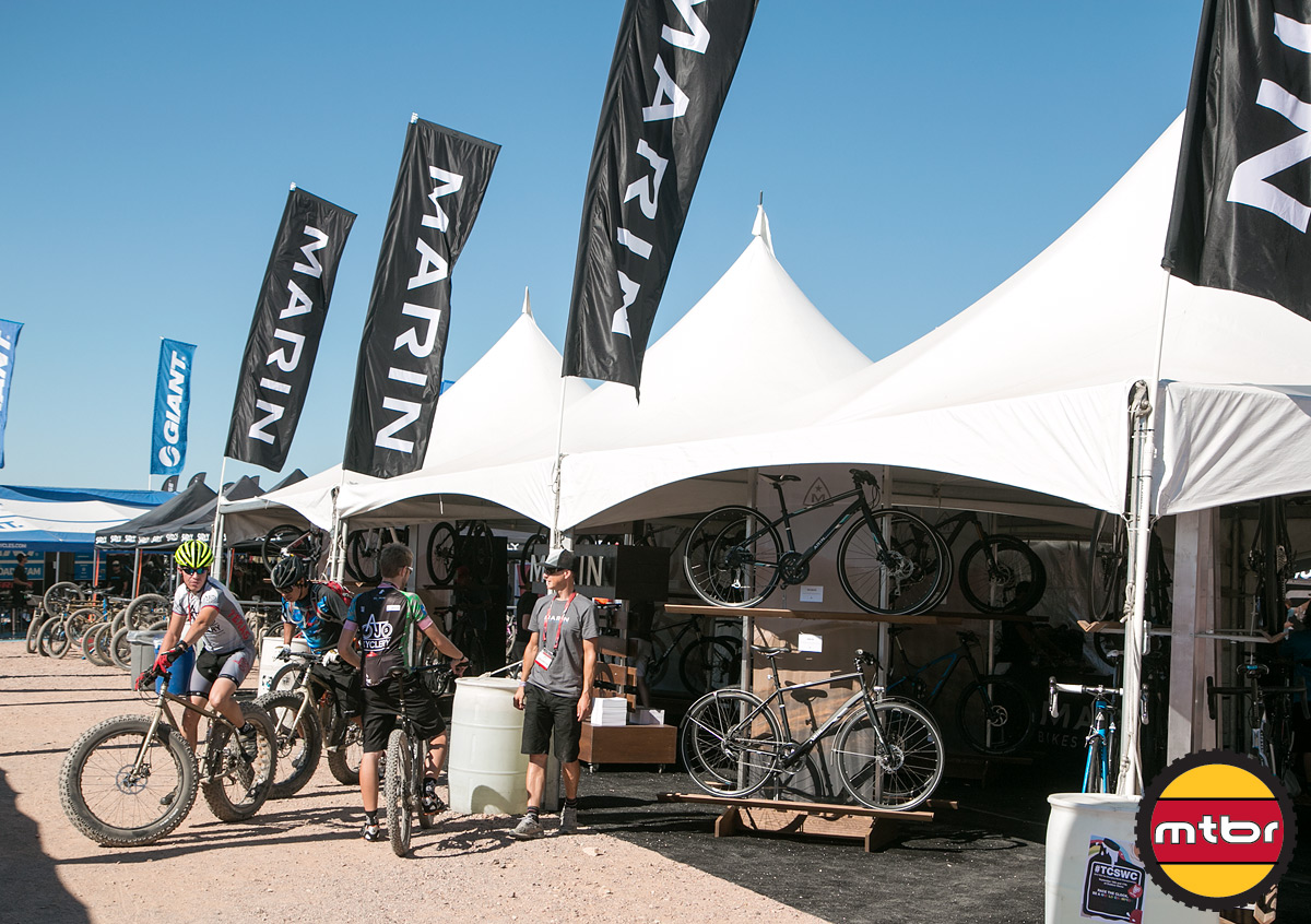 2013 Marin Interbike Outdoor Demo Booth