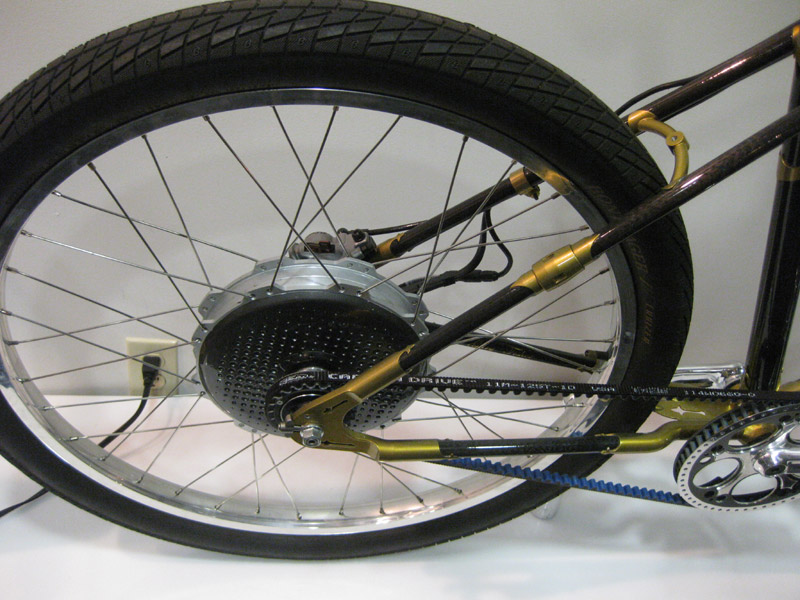 Belt-drive, single-speed, electric bike