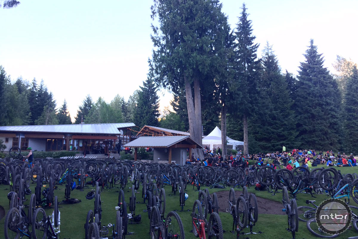 Bike parking at the Toonie race after party, which this week was held at the Whistler Golf Club.