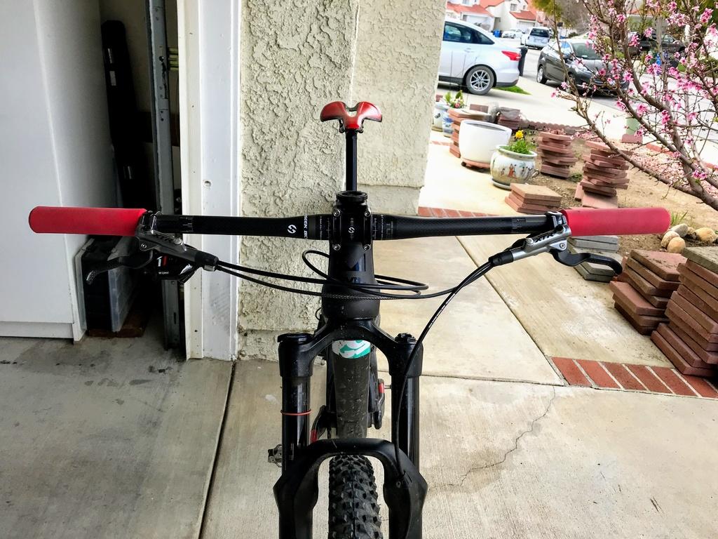 TOSEEK Carbon MTB Bike Handlebar Stems Seatpost Mountain Bike Flat Riser Bar Set