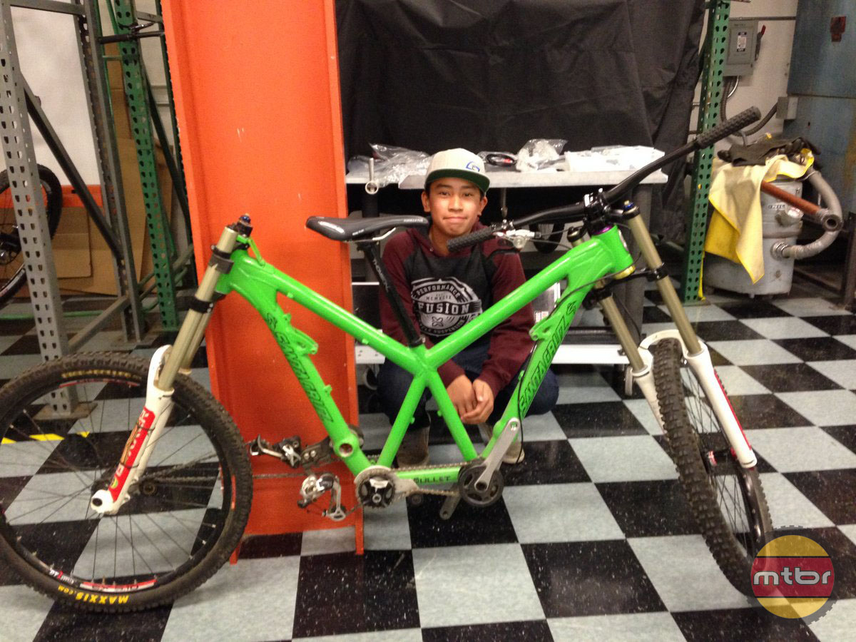 Santa Cruz Bike for Mtbr Intern