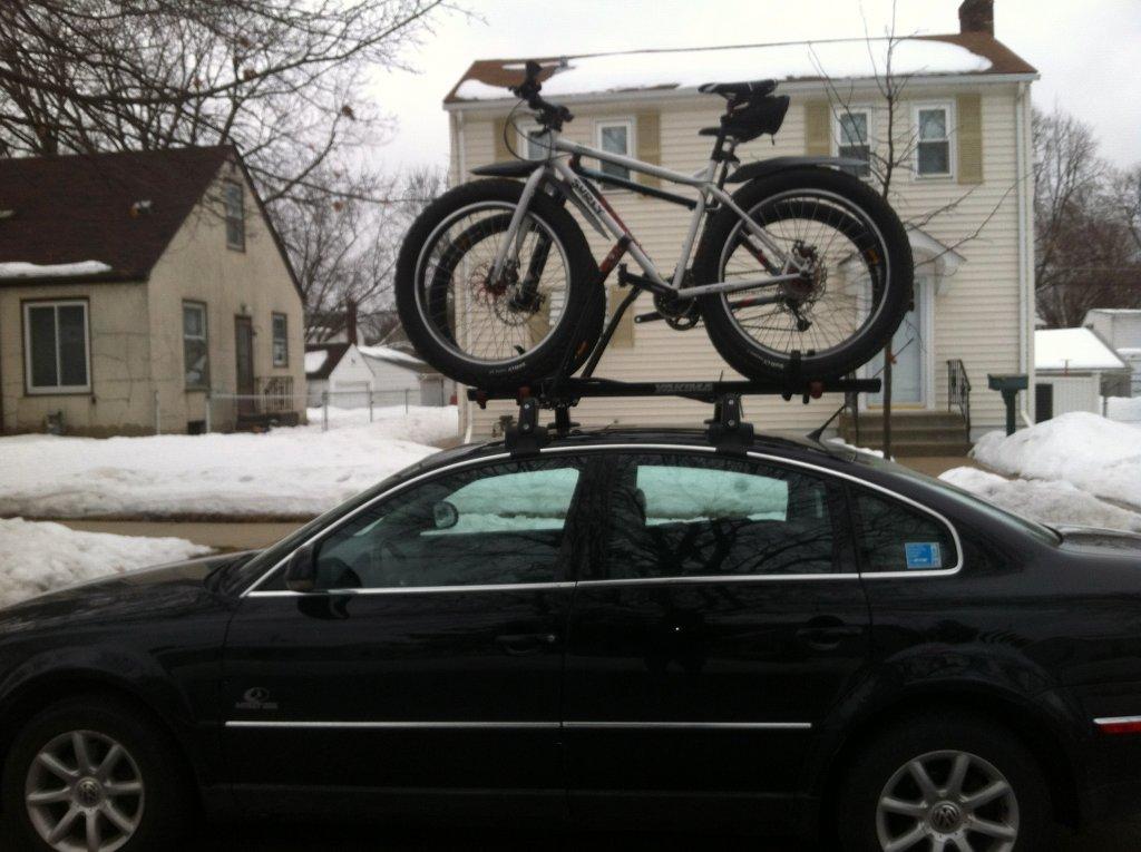 Fat Bike On Roof Rack Mtbr Com
