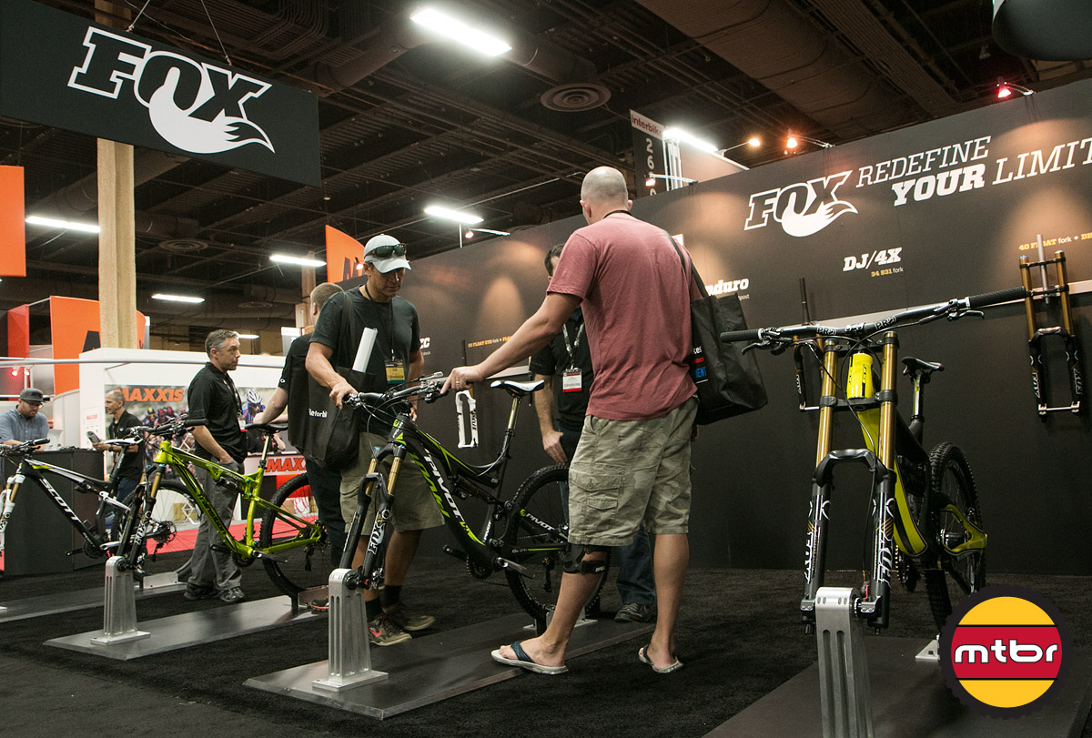 Fox Suspension Booth At Interbike 2013