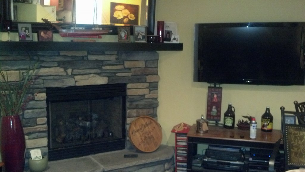 Fireplace Design fireplace tv mount : Above Fireplace TV mount - Down and Out Mount!- Mtbr.com