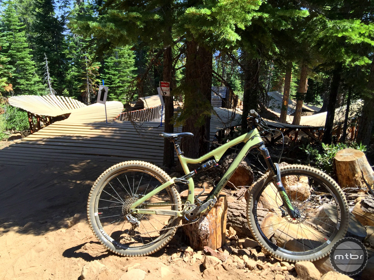 We took a chance jumping right in to the rowdy trails called Livewire and Gypsy of Northstar Bike Park.