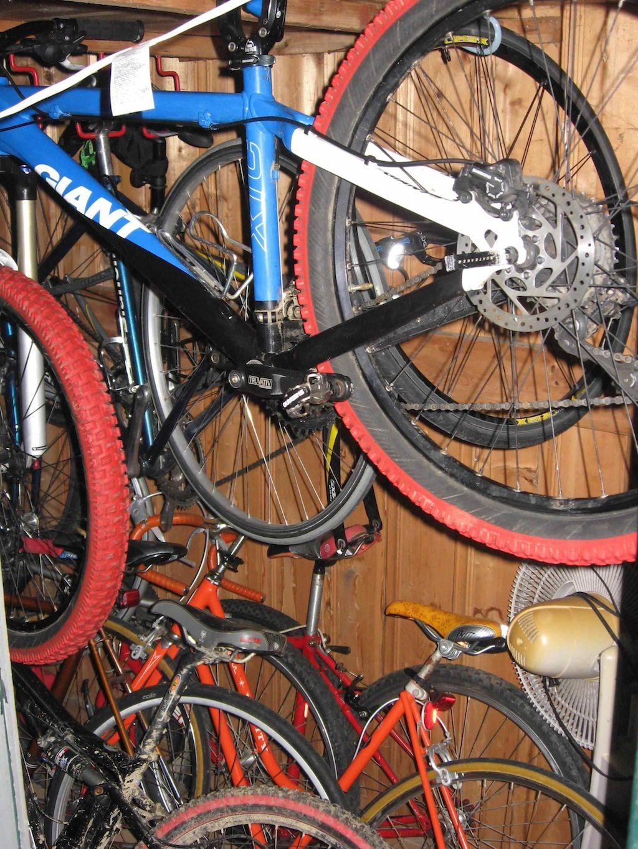 Bike Storage In Shed Img_2982